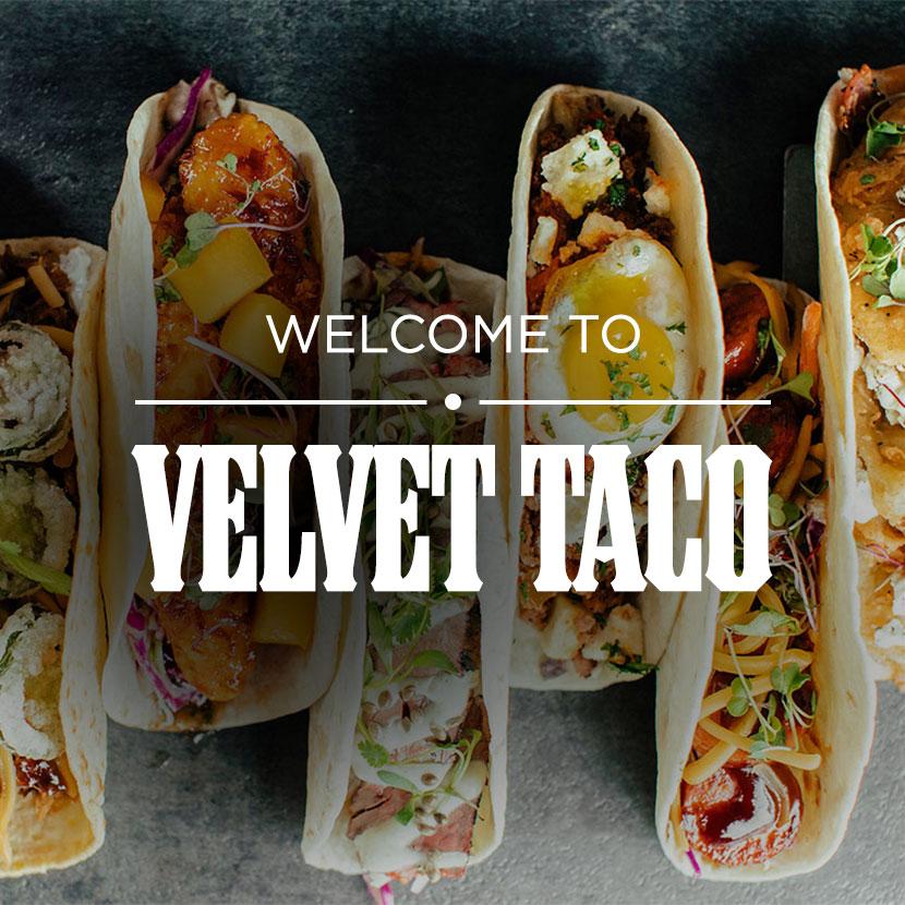 menu velvet taco