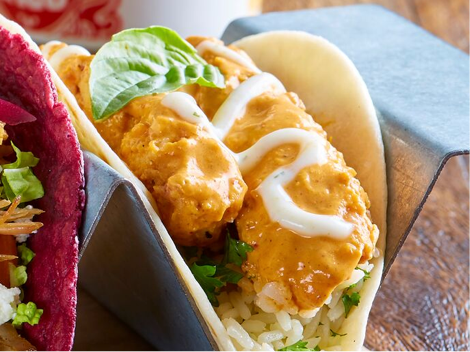 Order Online Link - Spicy Tikka Chicken Taco from Velvet Taco