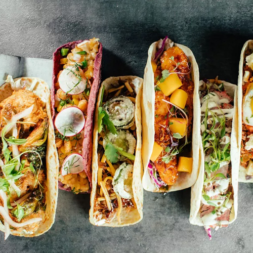 Velvet Taco is now serving Nashville hot tofu and falafel tacos, red velvet cake, and margaritas on West Paces Ferry